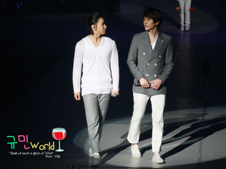 Kyu always stare at Min