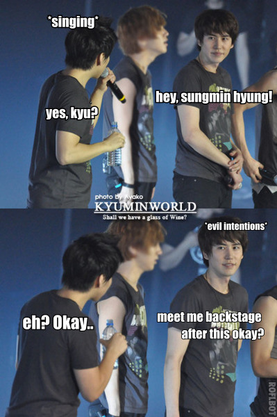 ah this two people (*KyuMin) just laugh with Yesung expression LoL